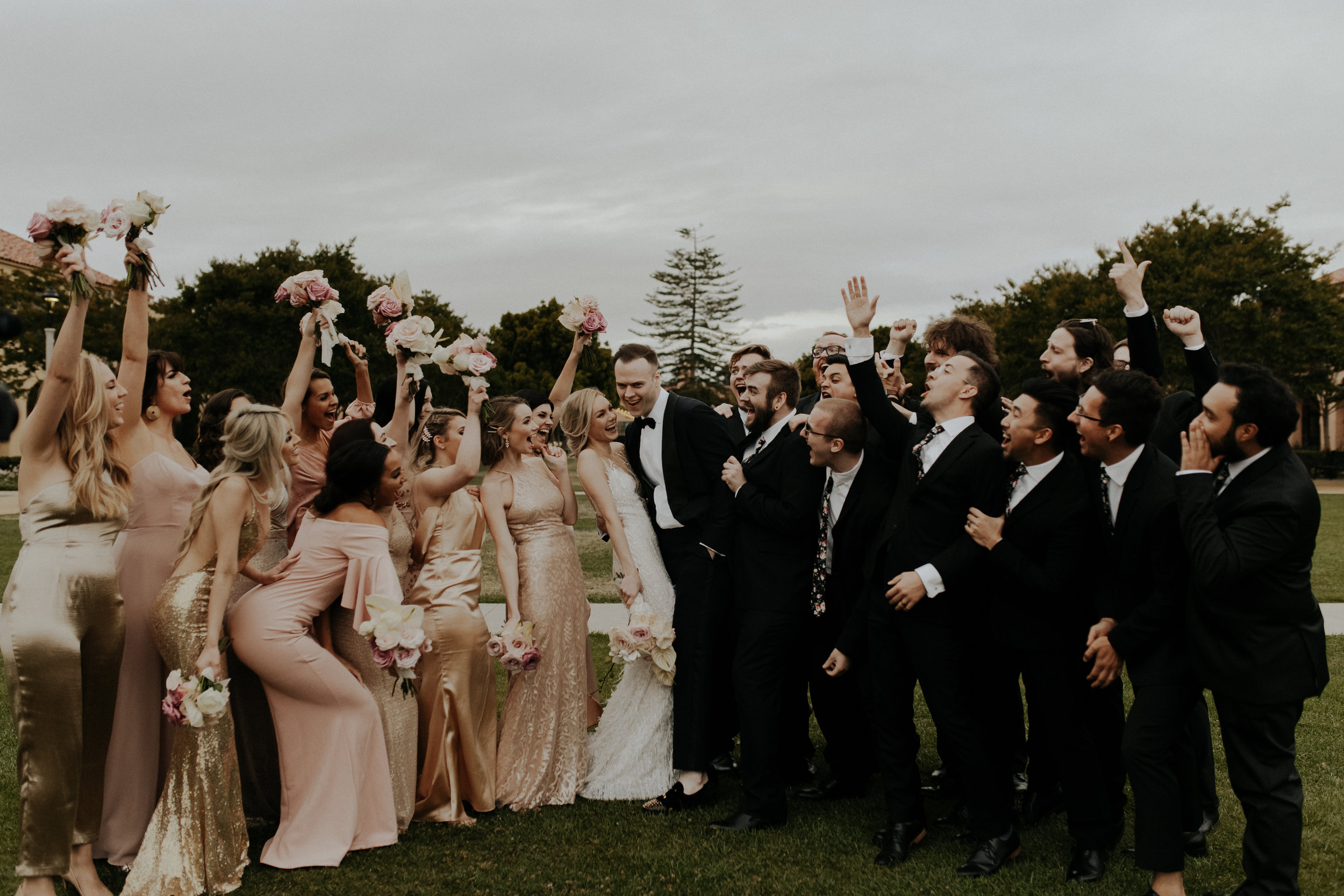 The ultimate hype-crew. They don't call it the 'wedding party' for no reason…
