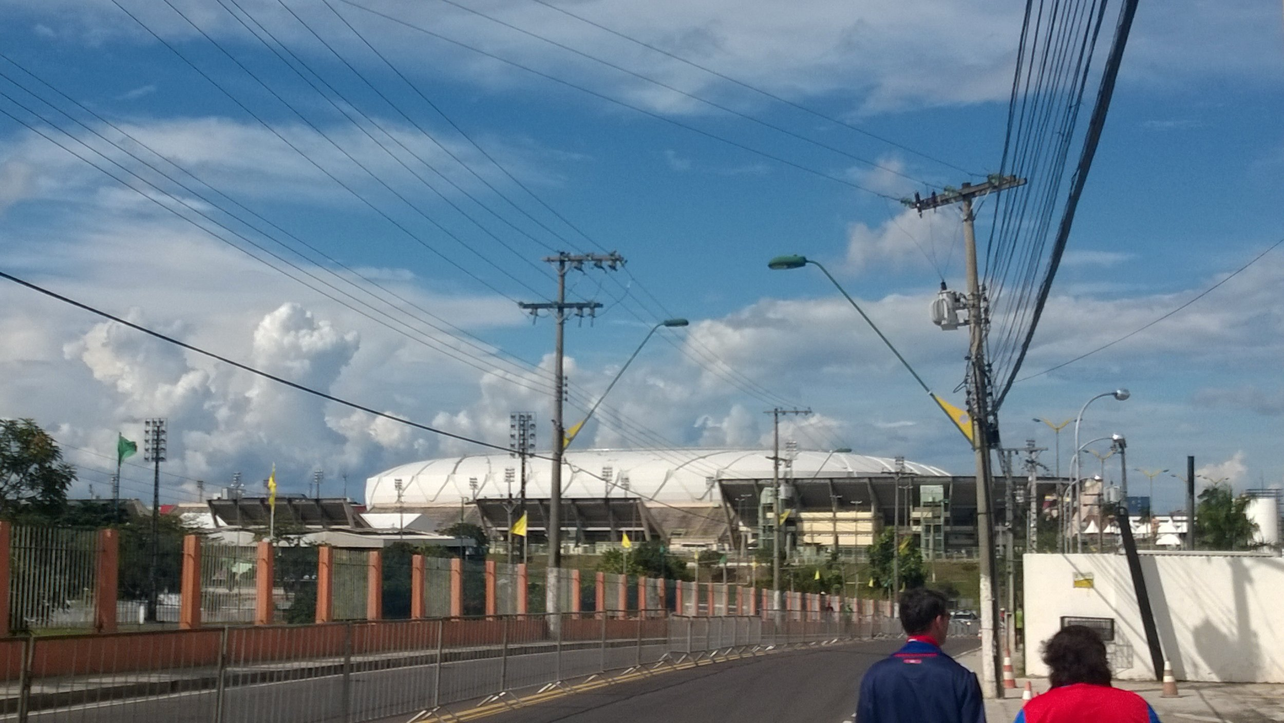 Arena Amazonia a short, hot and humid walk away