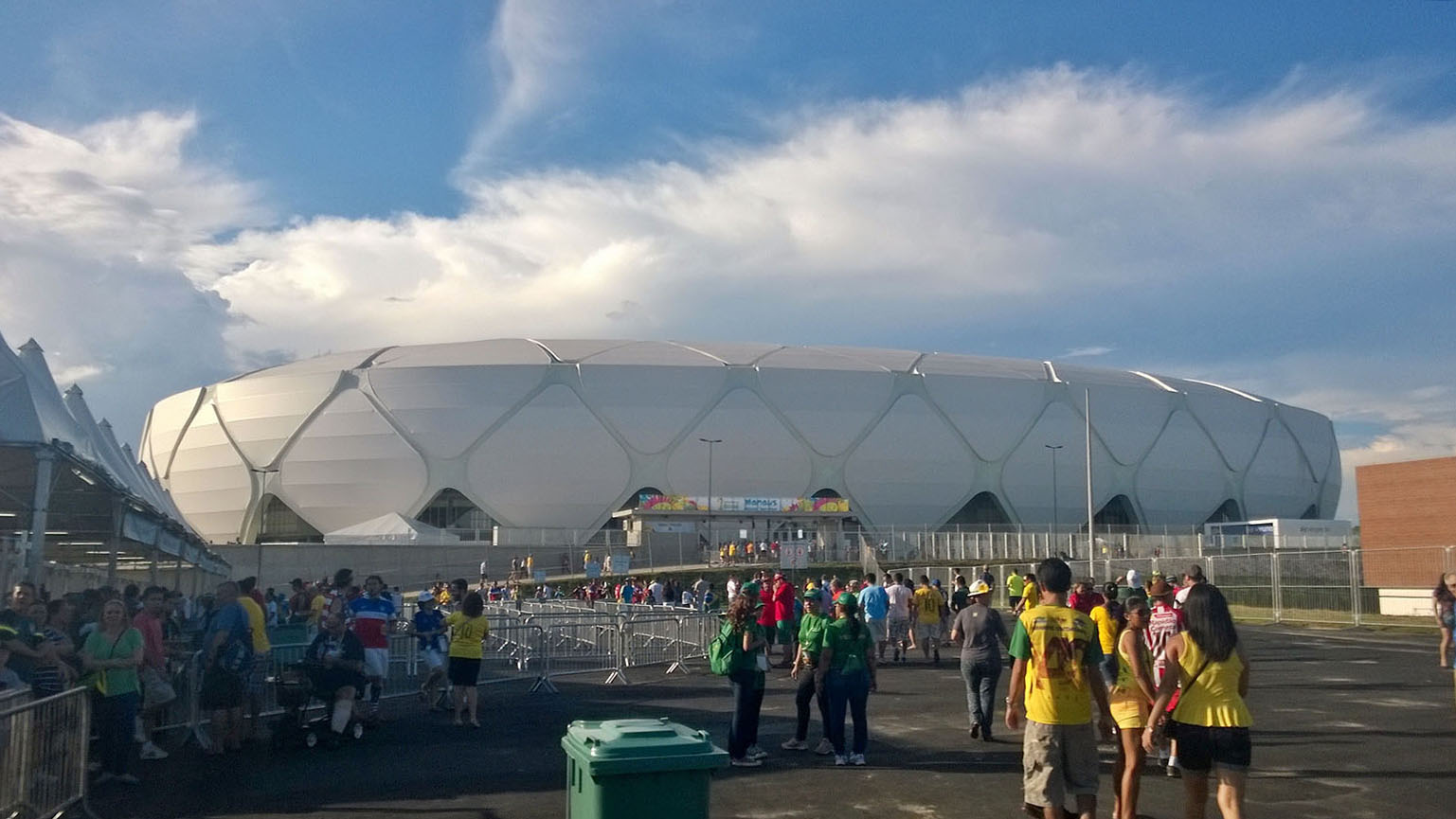 Walking into the most beautiful of the new World Cup stadiums - Arena Amazonia