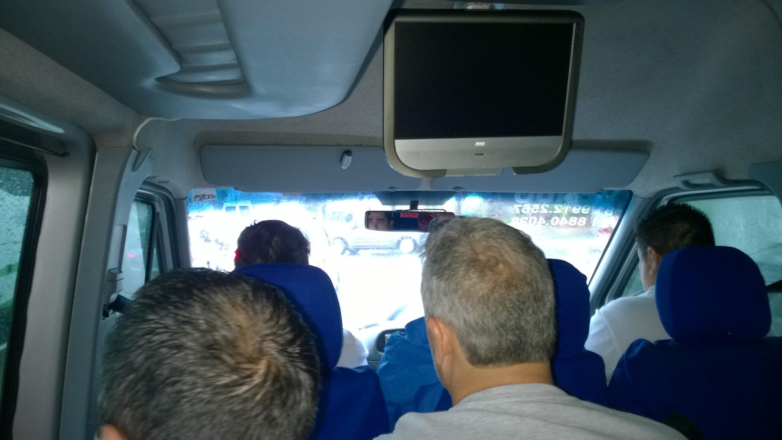 In the van heading to Arena Pernambuco