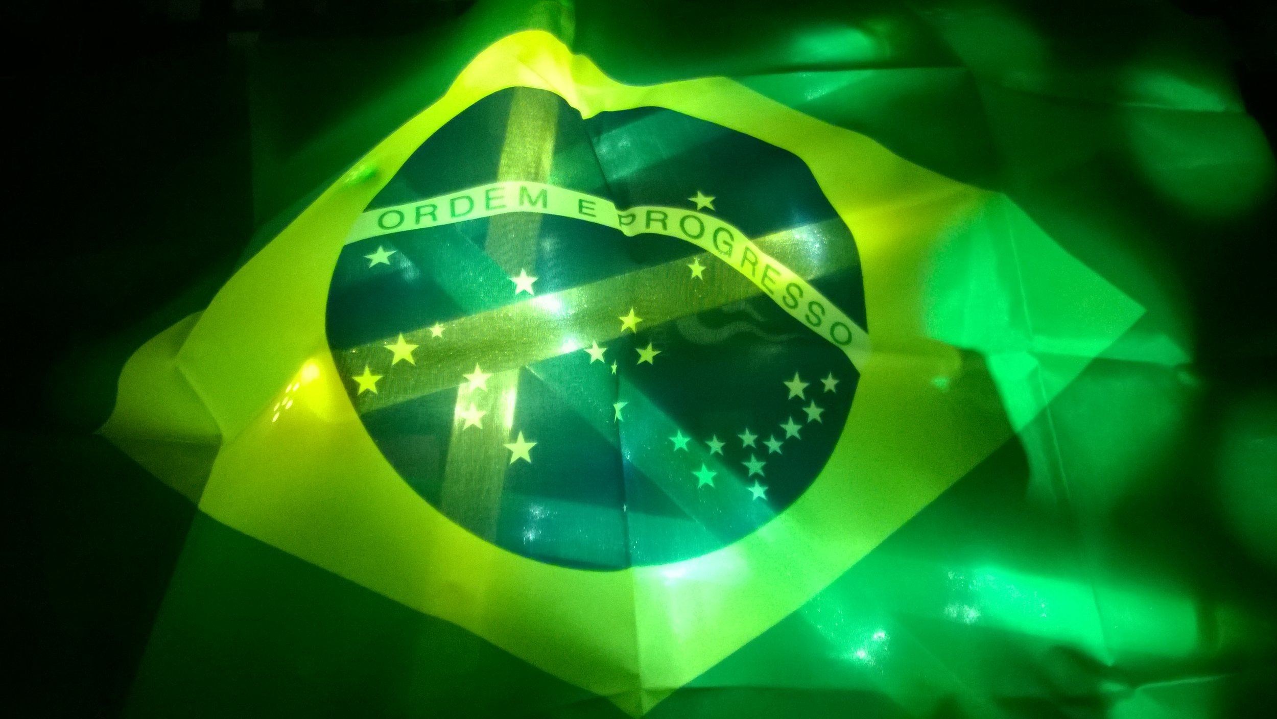 Brasil flag all lit up!