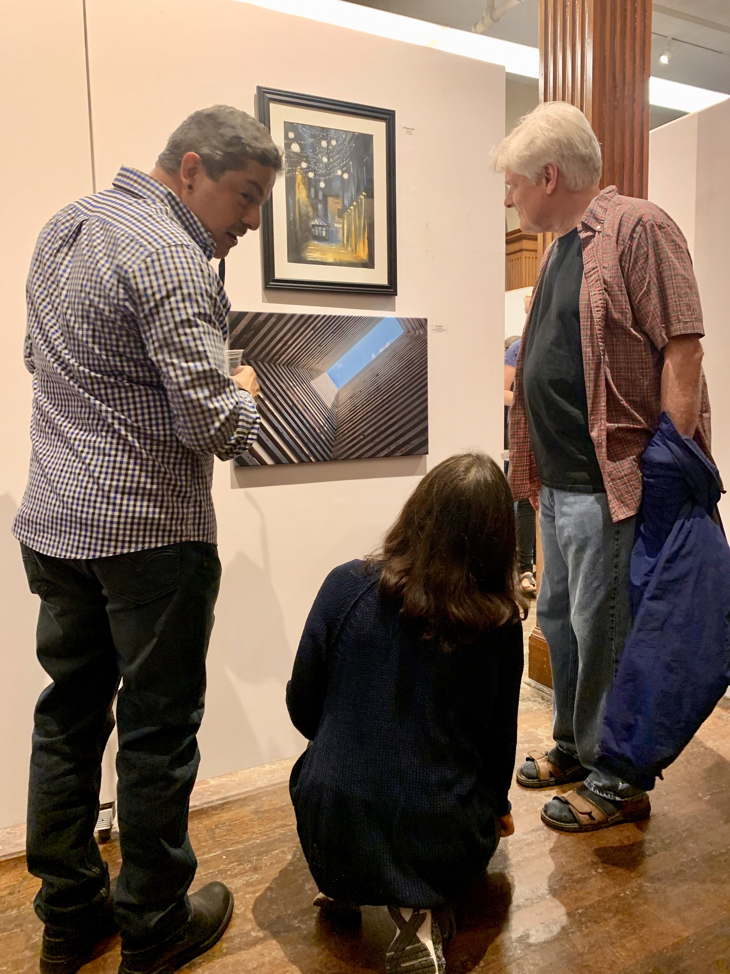 Opening reception brings many attendees interested to see the 40+ works on display in the Phinney Center Gallery