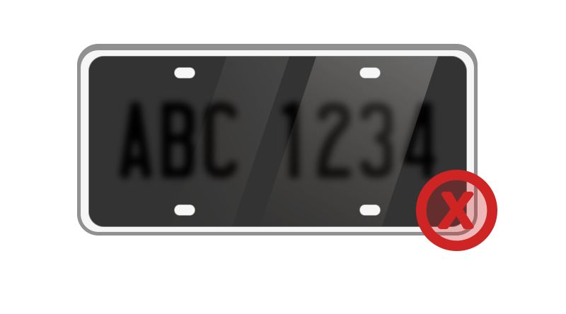 License Plate Covers - License plate covers which darken or obscure the letters make it more difficult to read your license plate.