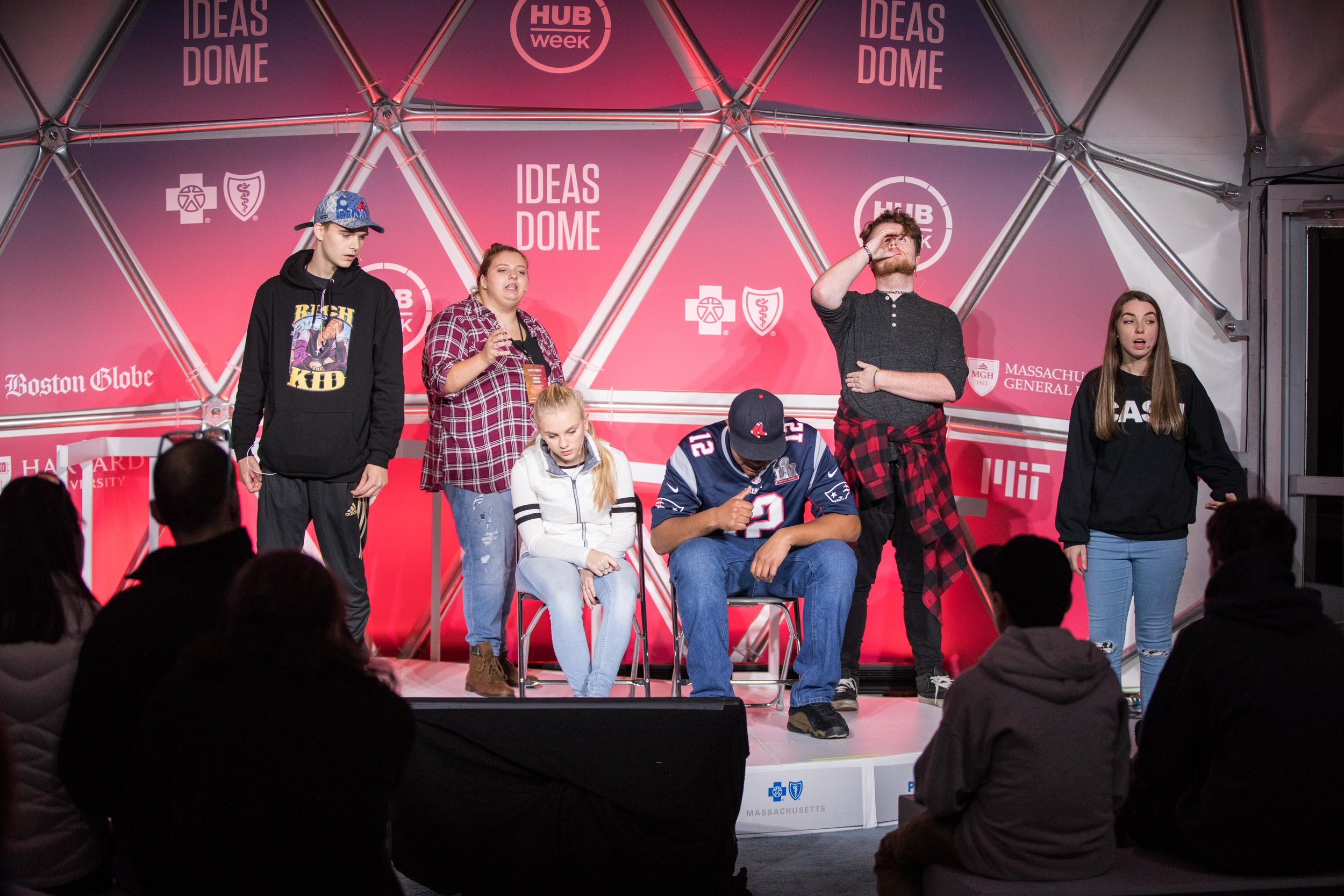 Drug Story Theater performing for the Community at Boston's HUBWeek, 2018
