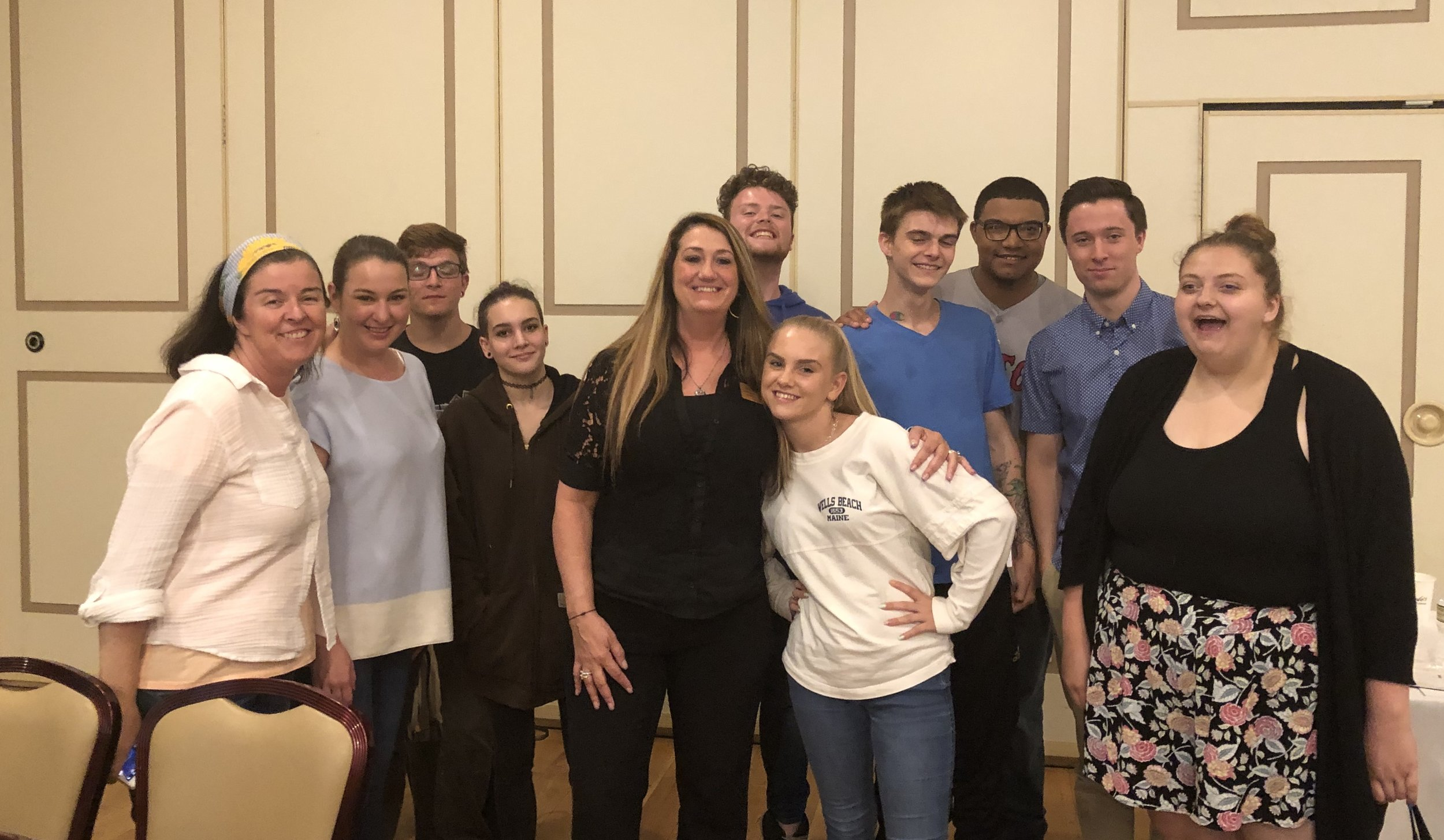 """Cast of """"The Price You Pay: Second Chances"""" and """"The Price You Pay"""" with MNA Chair Charlene Richardson on 6/11/19. Performance for MDA Annual Conference at Lombardo's, Randolph"""
