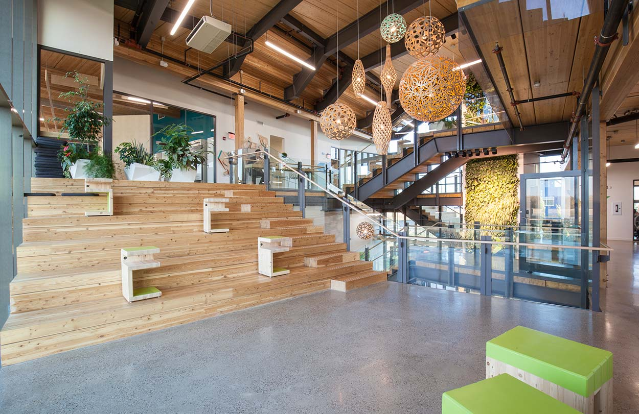 Mosiac Centre Case Study - See how this energy industry leader builds a Living Building office.Learn More