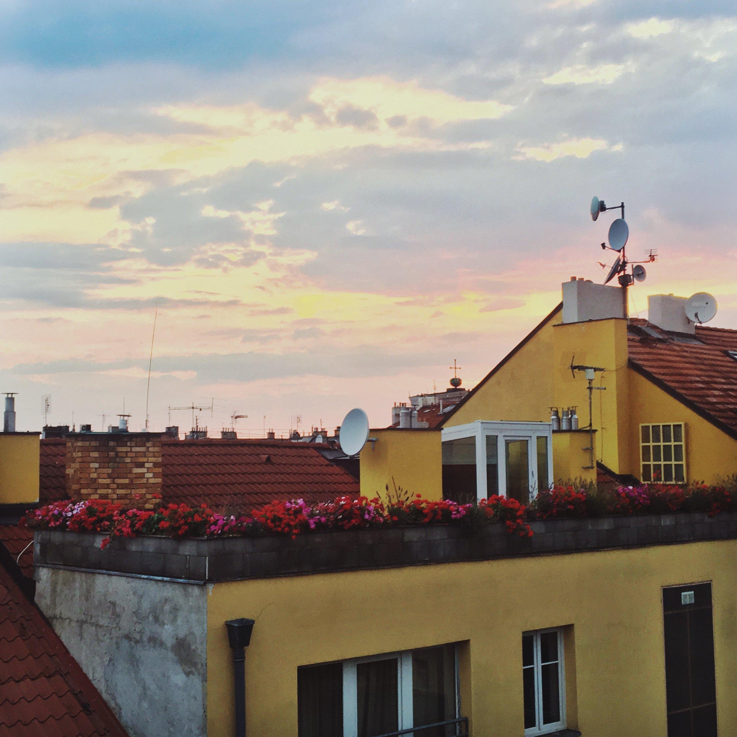Sunset from Slezska 61 | Home sweet home