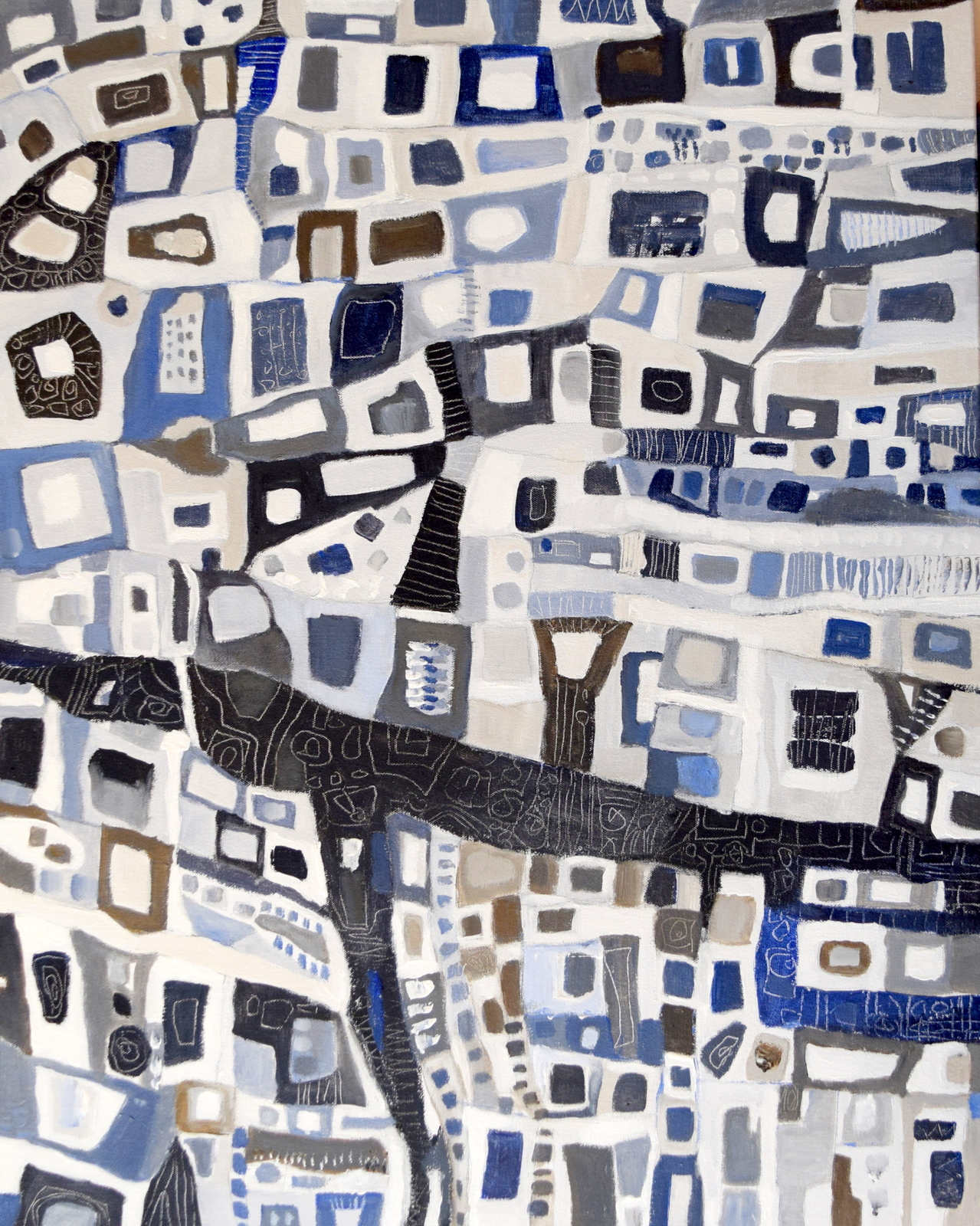 Urban Abstract - Blue Path, Jo Ellis