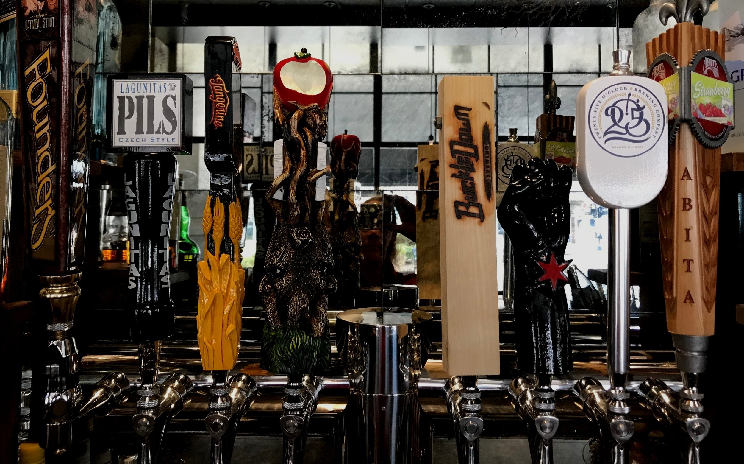 DRAFT BEERS - Our 16 rotating taps showcase up and coming and classic microbreweries.Great young breweries like Tryptych, White Oak, Big Thorn, Heavy Riff and Evil Horse join classic regional breweries such as Bells and Founders.