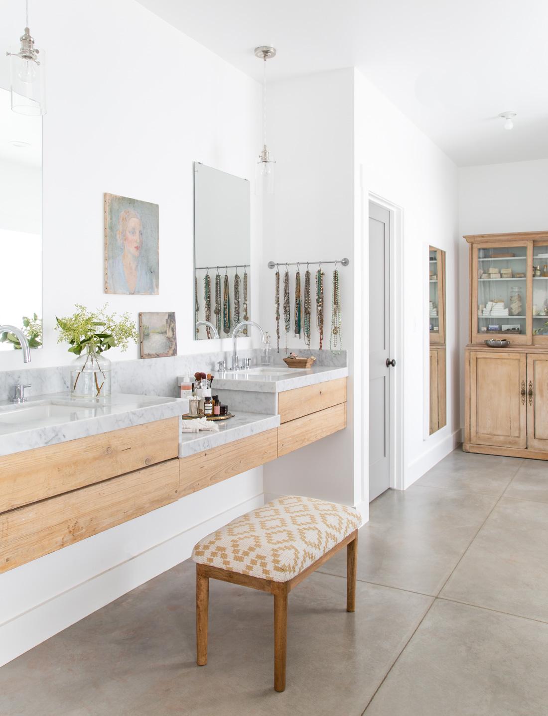 Heather Bullard   Marble Wood Vanity-1-2