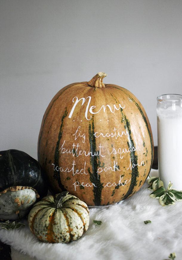 Menu Pumpkin via the merrythought