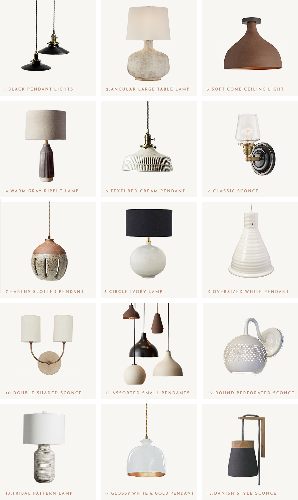 15 Unique Ceramic Light Fixtures | Heather Bullard