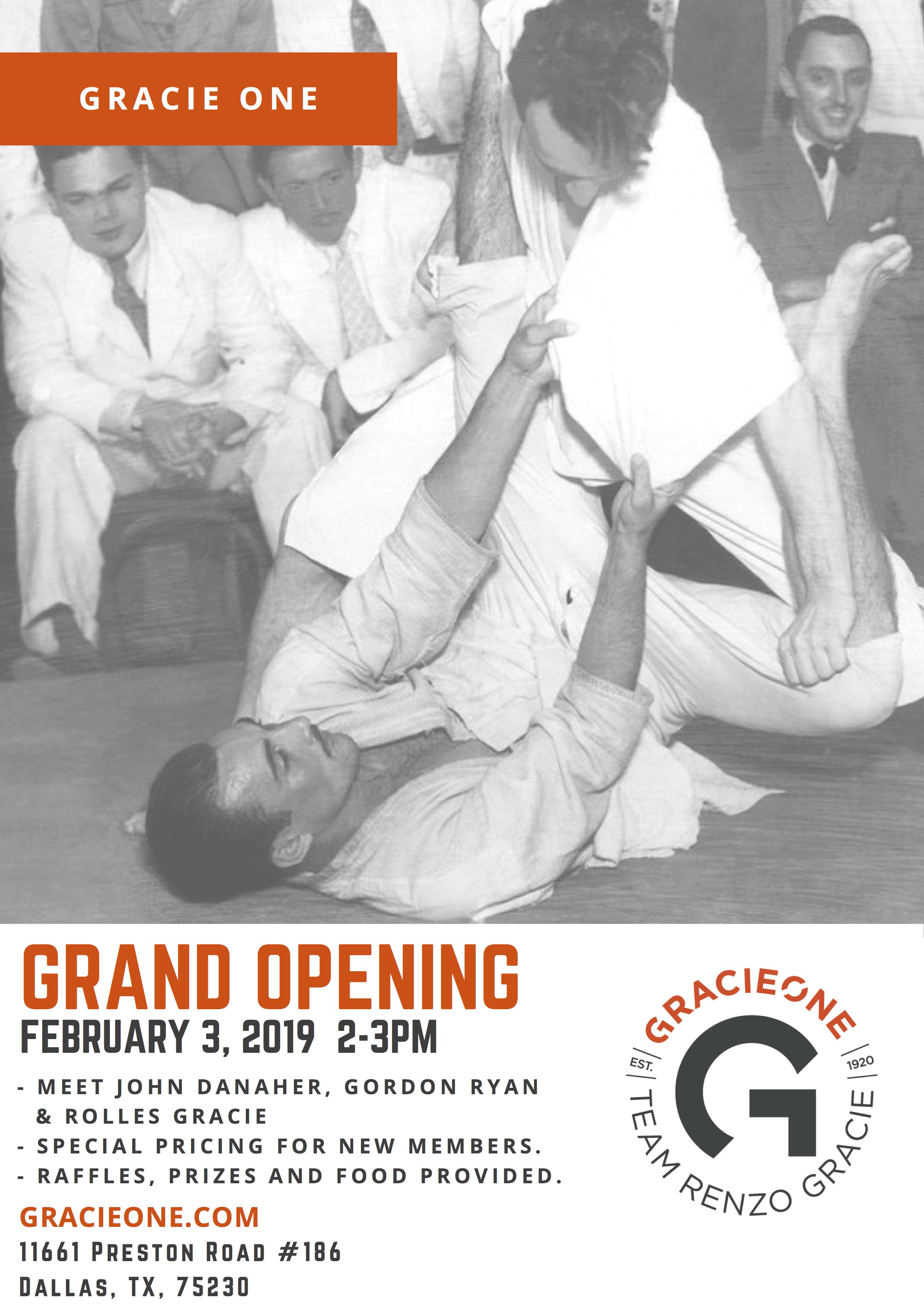 GracieOne Academy Grand Opening Carlos Gracie Sr.