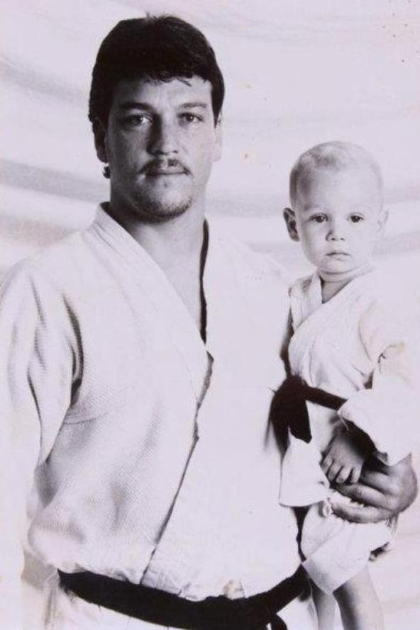 Crolin & his son Rulivan Gracie.