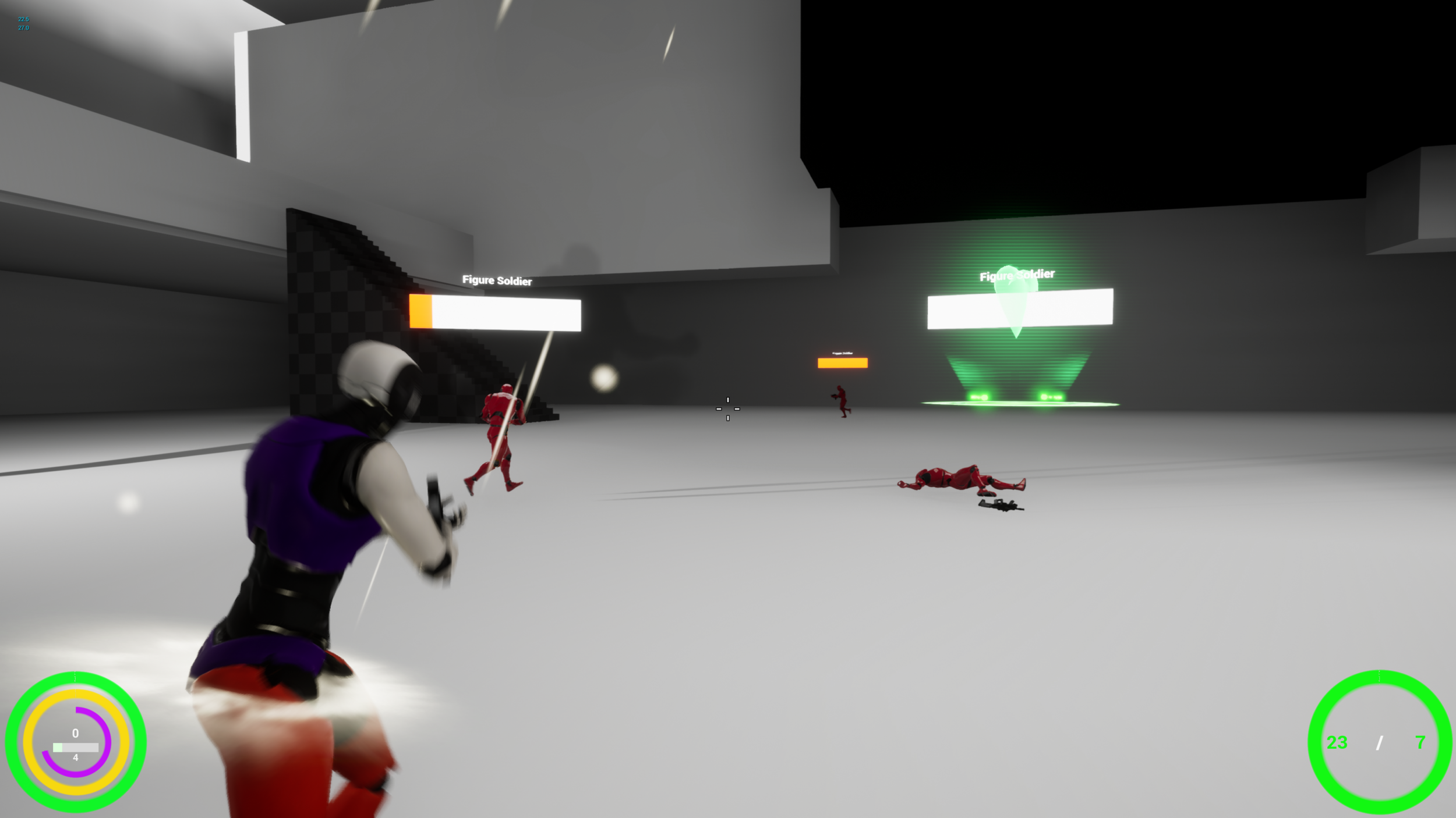 When the player activates Overdrive, there is a particle effect attached to them, adding visual feedback.