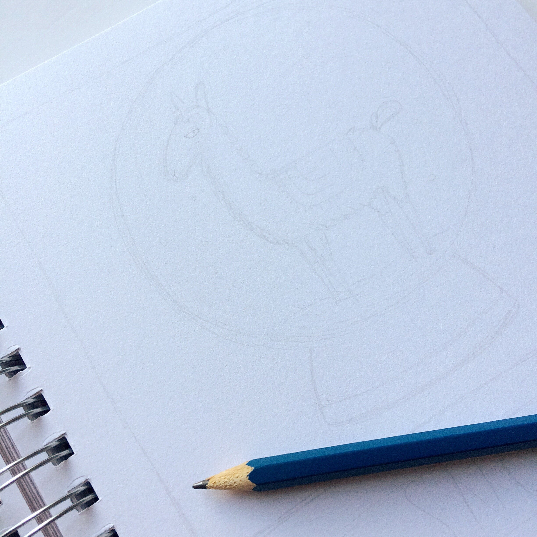 2. - light sketch in my Inktober sketchbook