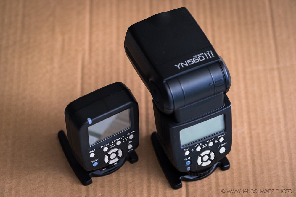 Meet the Yongnuos. Extremely cheap but lots of bang for your buck.
