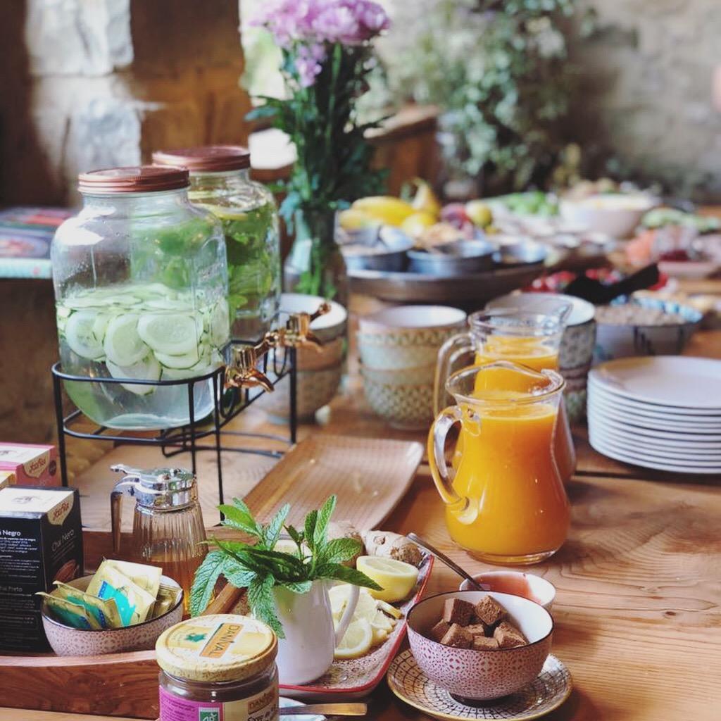 healthy vegetarian food aya retreats