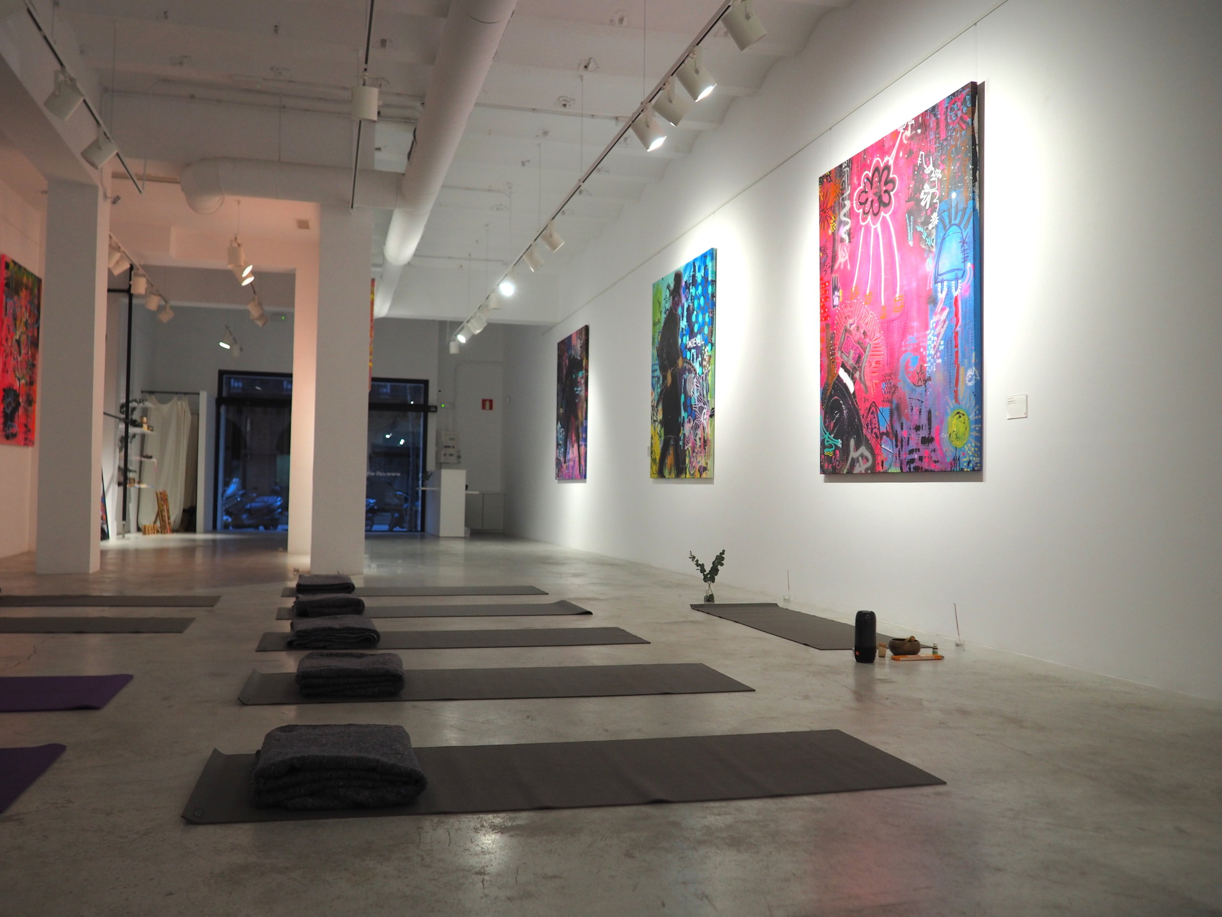 Rise & Flow Yoga at Art Gallery - Vinyasa Yoga - Meditation - Healthy breakfastCome and enjoy a dynamic & deep Vinyasa yoga session followed by a meditation to wake up your inner creativity, at Cali Gallery, a street art gallery in the center of Barcelona, that will be transformed into a holistic yoga sanctuary. The session will be followed by a healthy breakfast.SATURDAY 16th FEBRUARY9.00 am to 11.30@ Cali Gallery285 CARRER ROSELLO 08037 Barcelona SpainPRICE: 25€/ PERSON(price include: yoga class, yoga mats meditation & healthy snack)