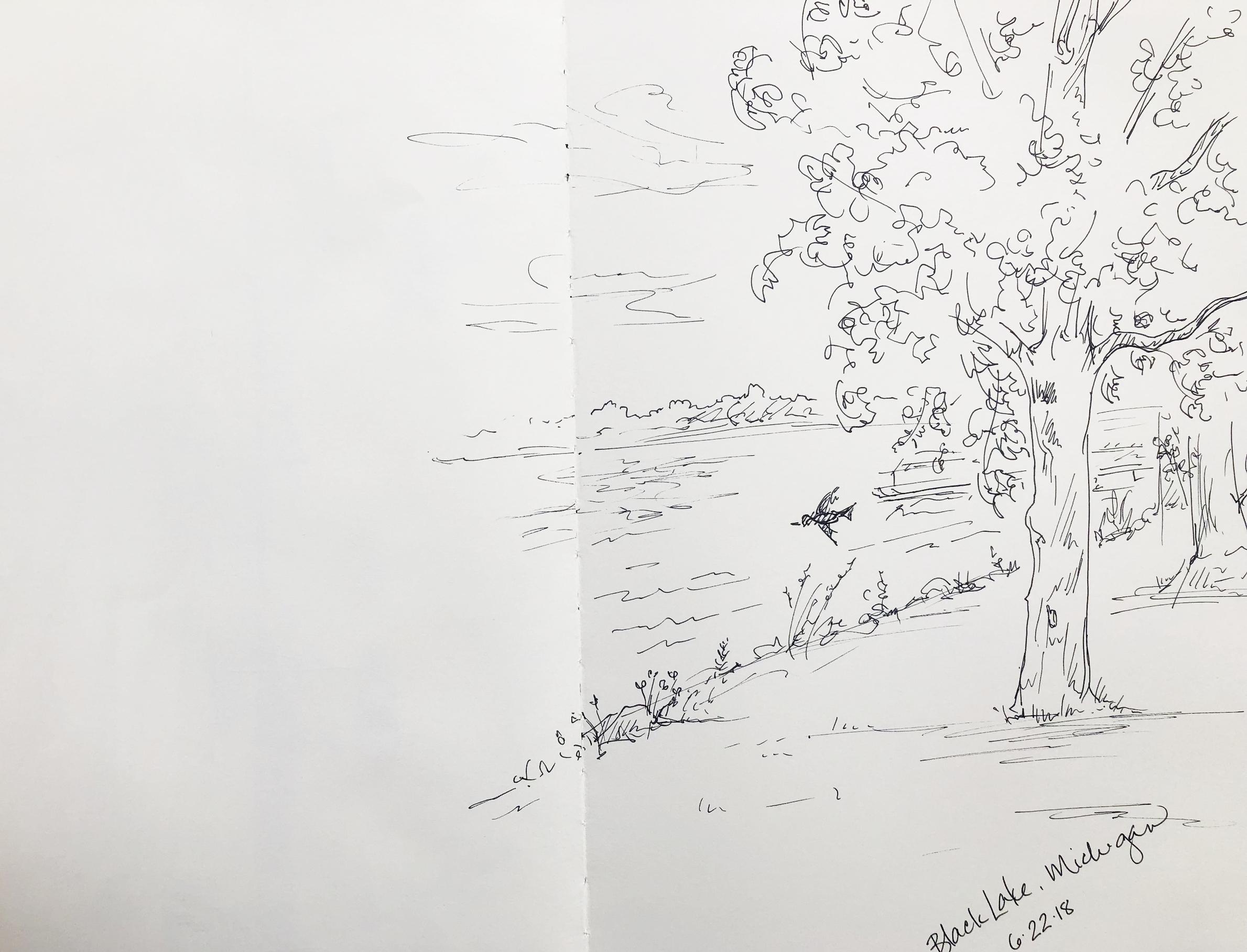 Black Lake sketch