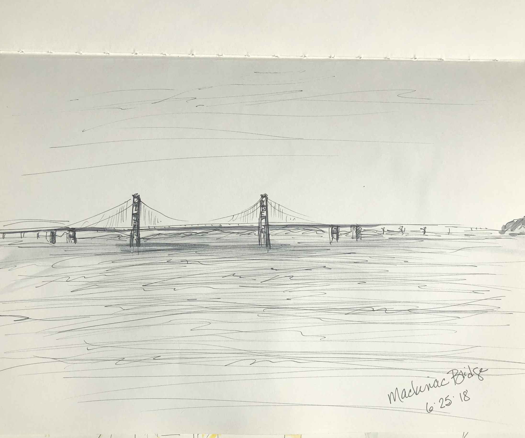 Mackinac Bridge sketch