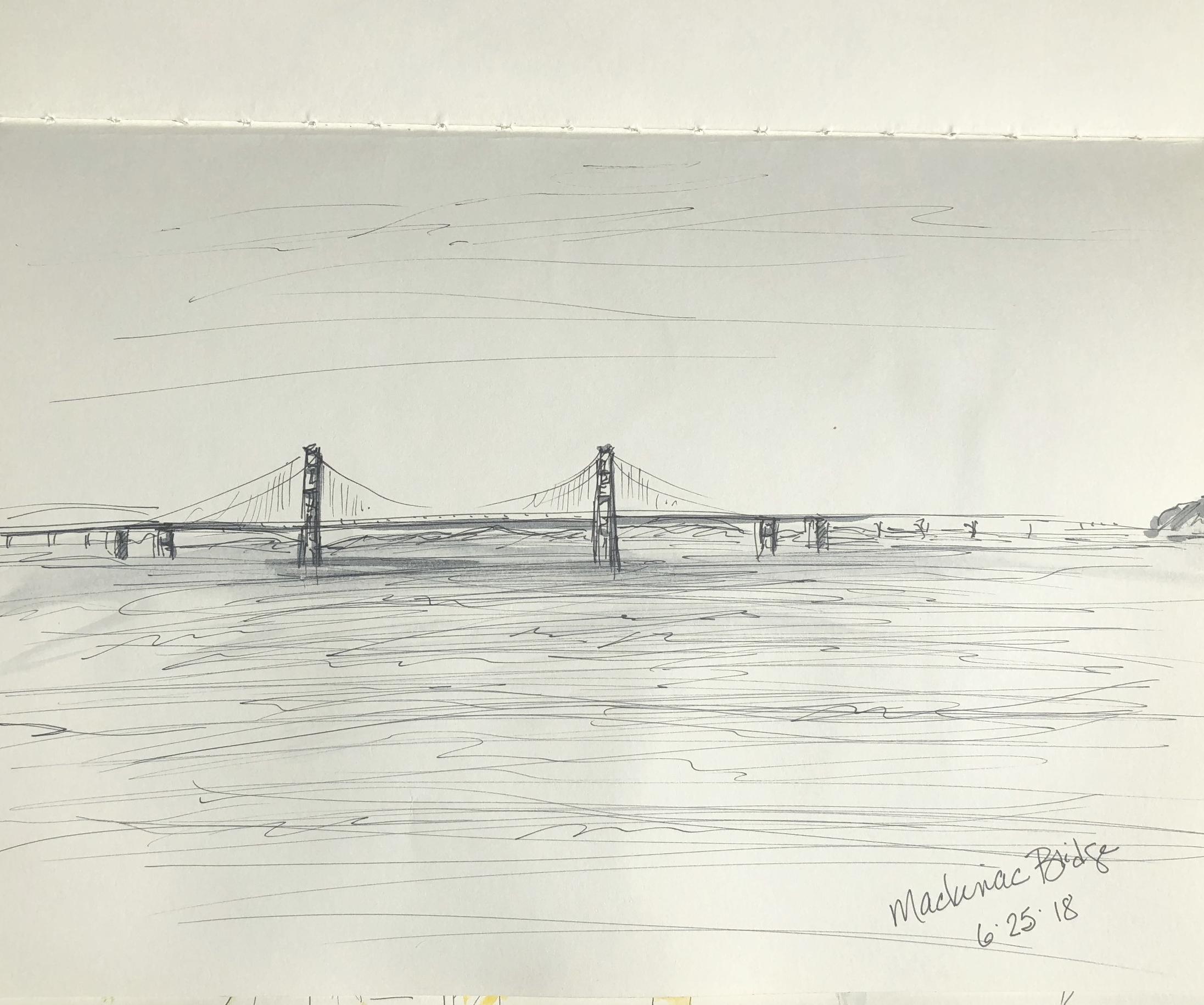 Mackinac Bridge sketch