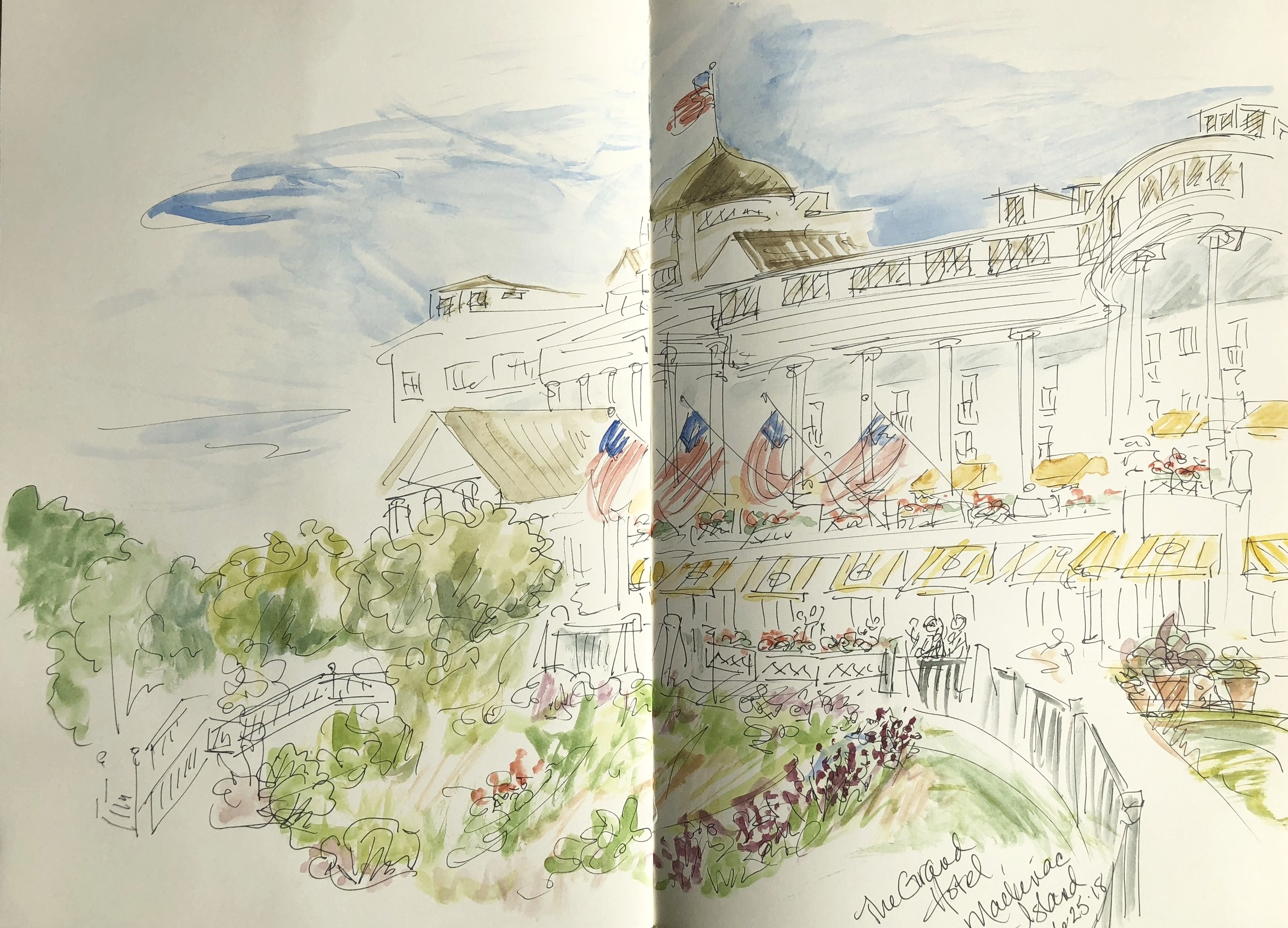 Grand Hotel, Mackinac Island watercolor
