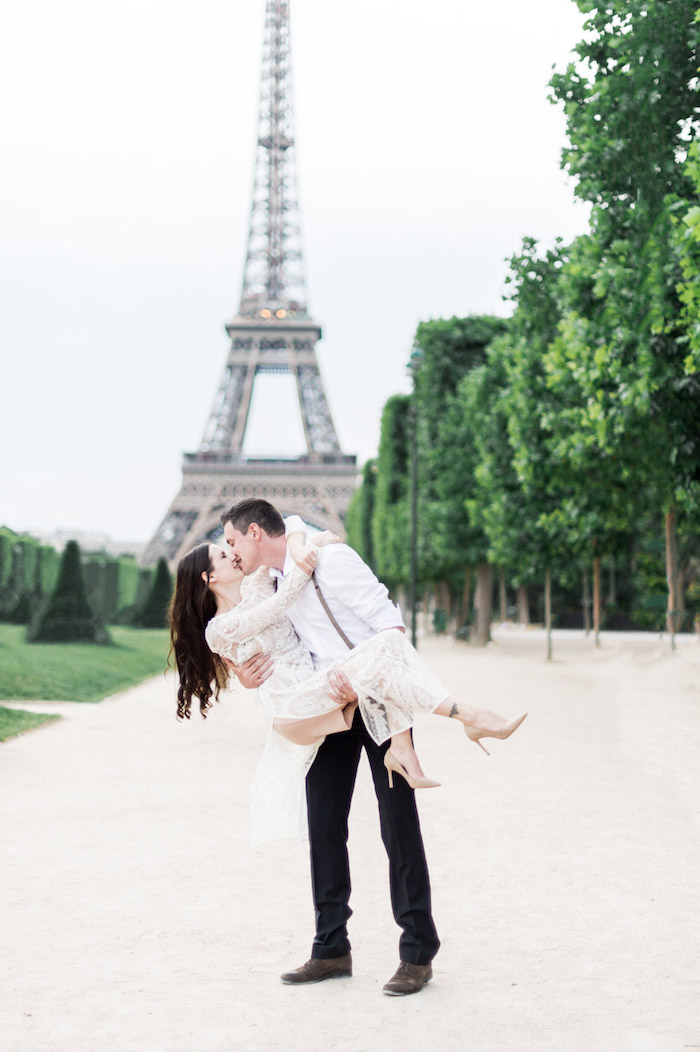 Love is real!! The City of Lights inspires lovers!
