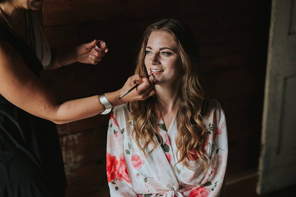 Finishing touches on this beautiful bride. All photos courtesy of Laura Rowe. All makeup by Maya Goldenberg, All hair by Shanna Laytaon for Maya Goldenberg, eco-Beauty Professional.
