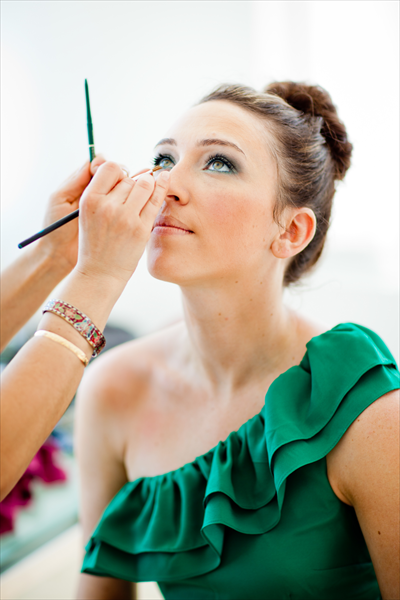 Chrisman studios captured me doing Marie-Eve's makeup at Davina's wedding!!