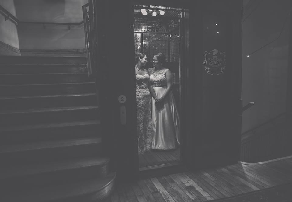 The historic elevator at the Gladstone Hotel