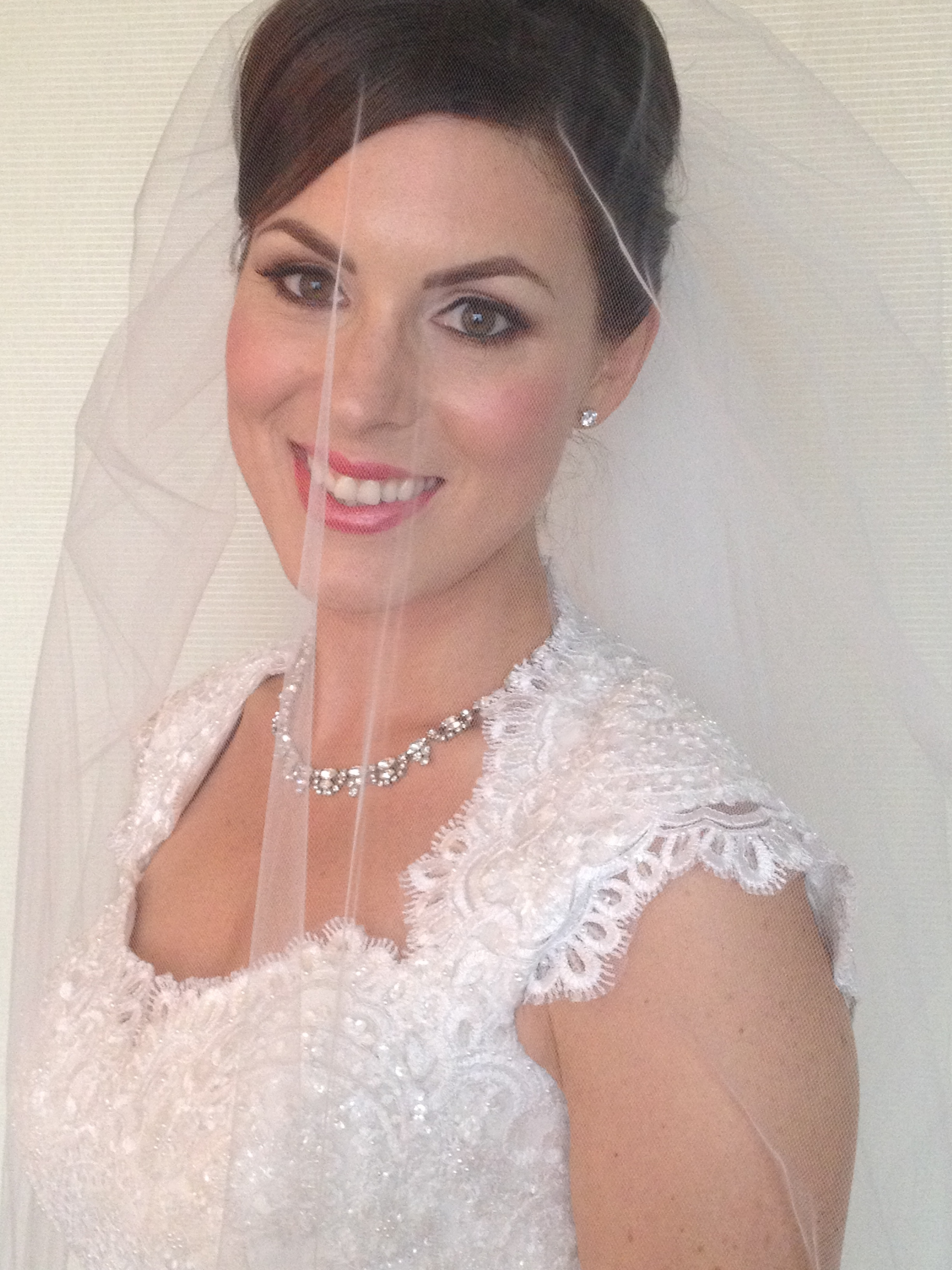 Snapped this lovely right before her ceremony. Makeup by Maya Goldenberg.