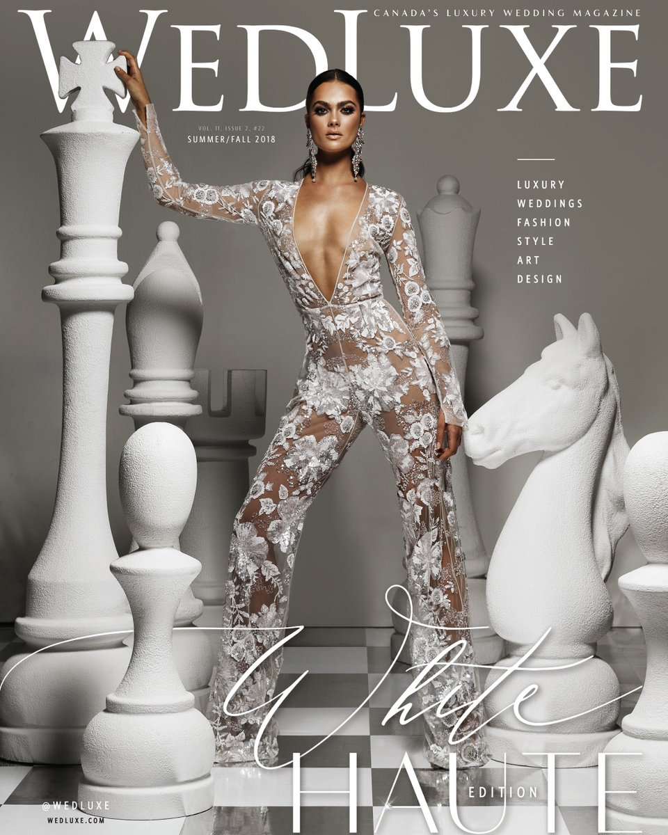 Featured in the winter/spring 2018 and summer/fall 2018 issues of Wedluxe.