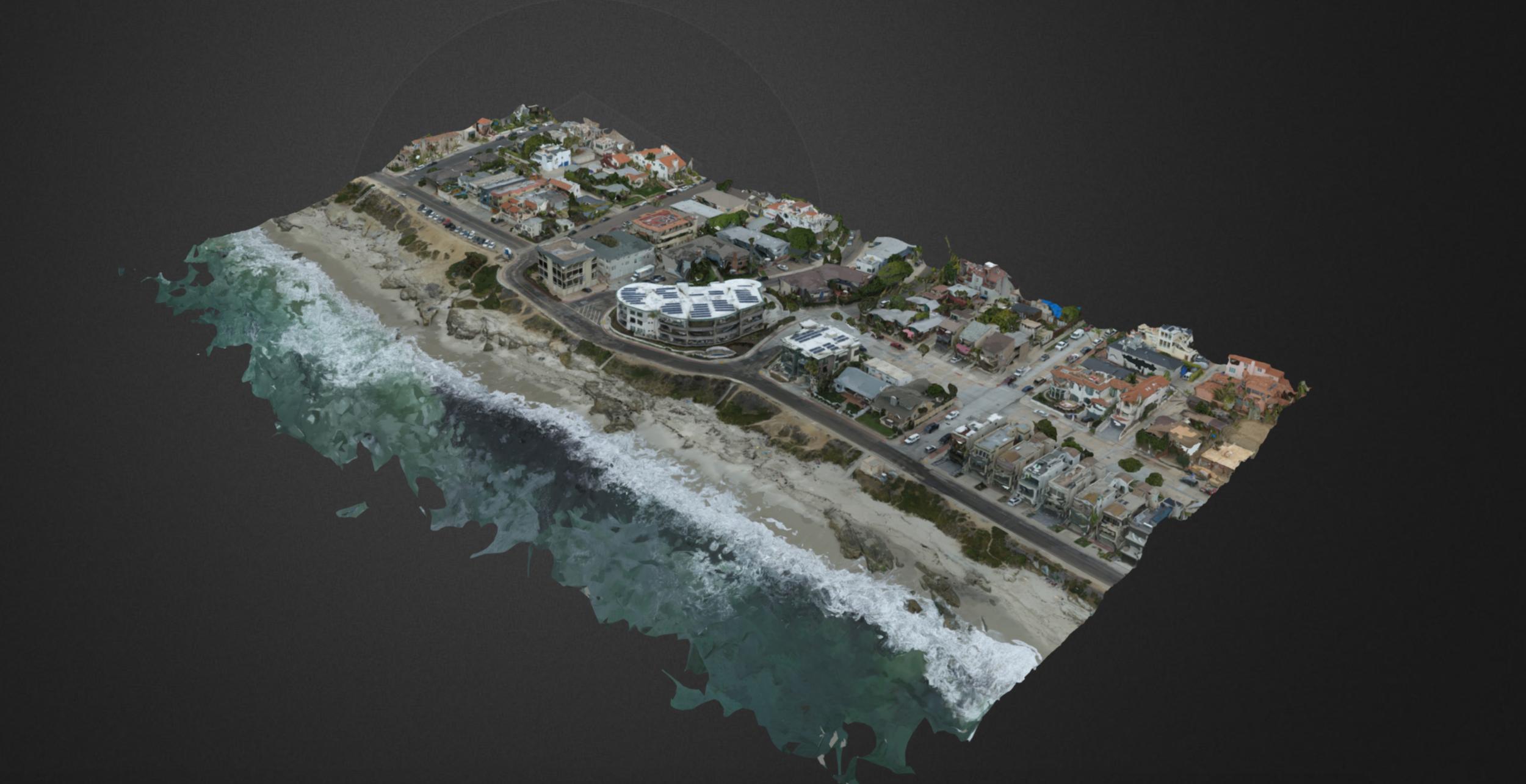3D model of windansea beach, la jolla, california