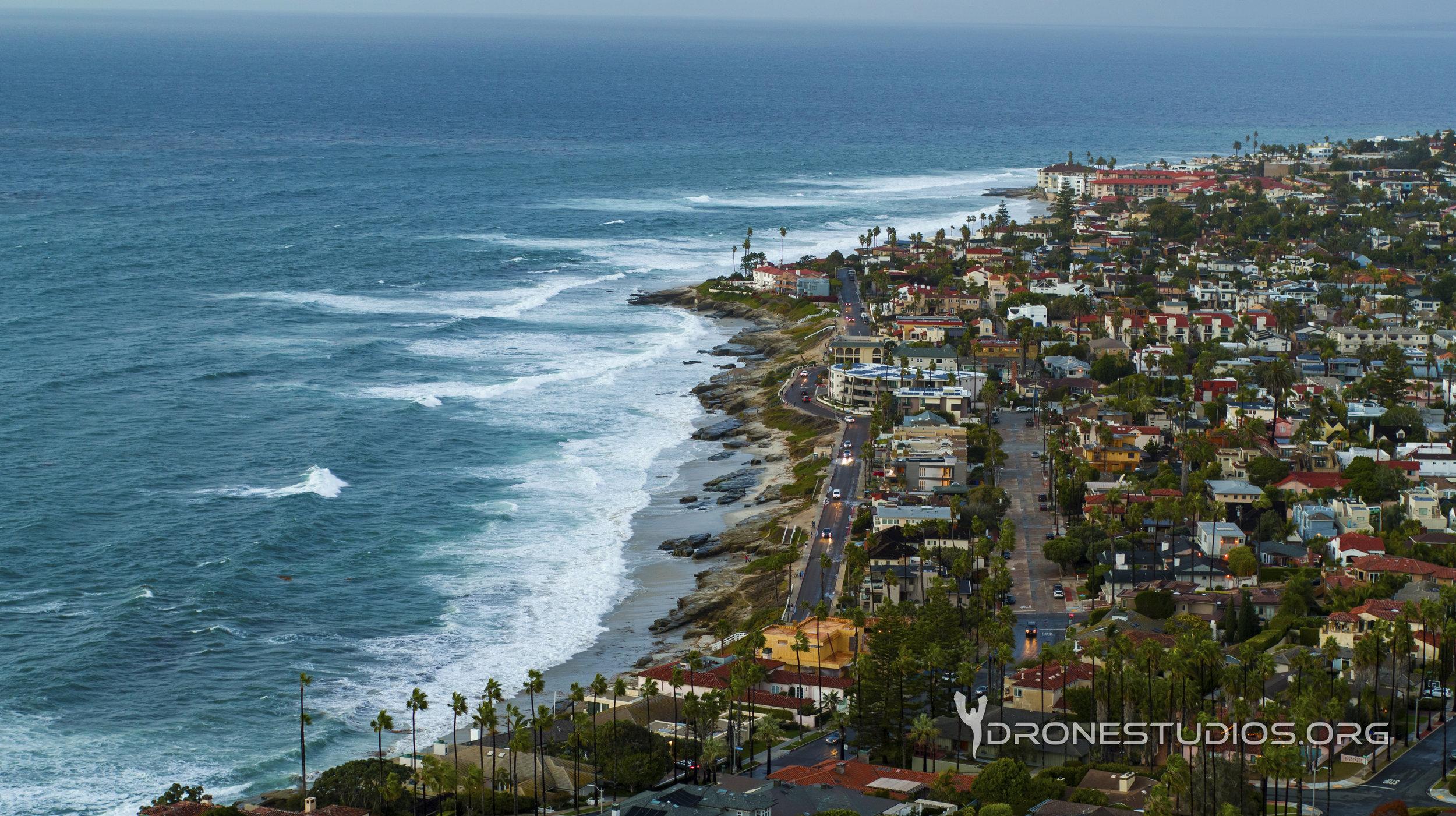 Drone photo of Windansea beach in La Jolla, CA