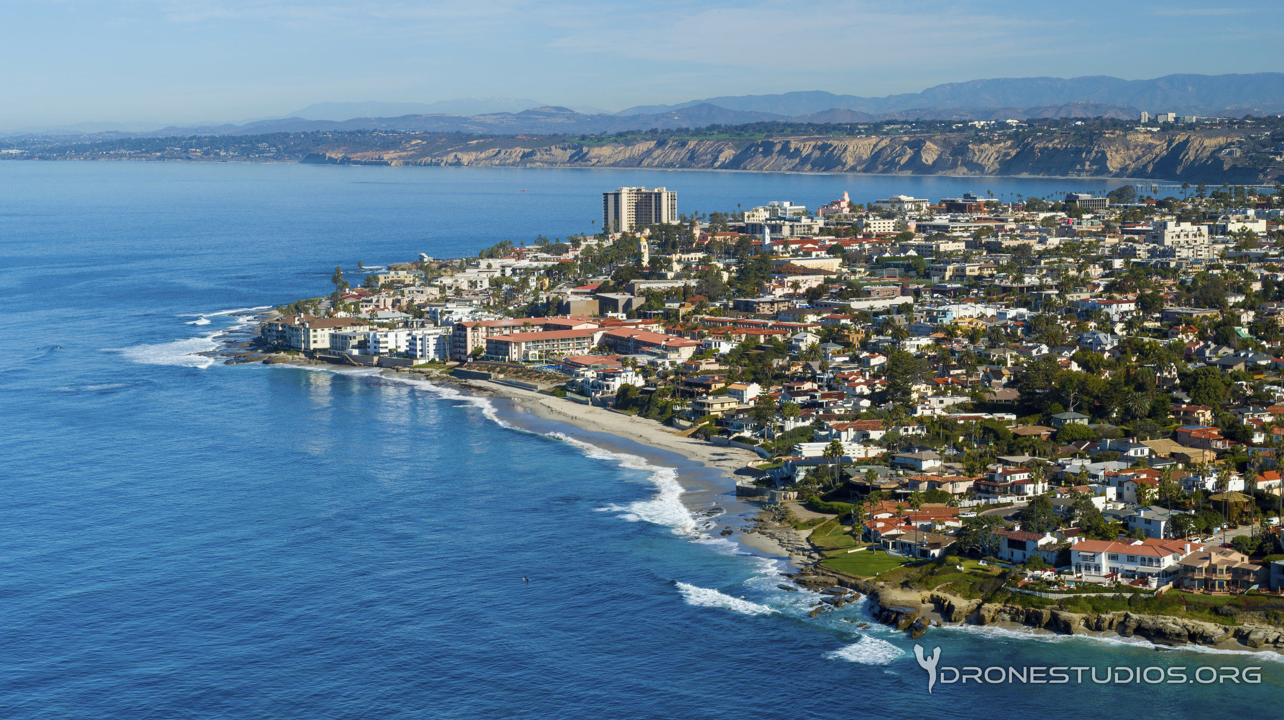 Drone photo of La Jolla and Torrey Pines