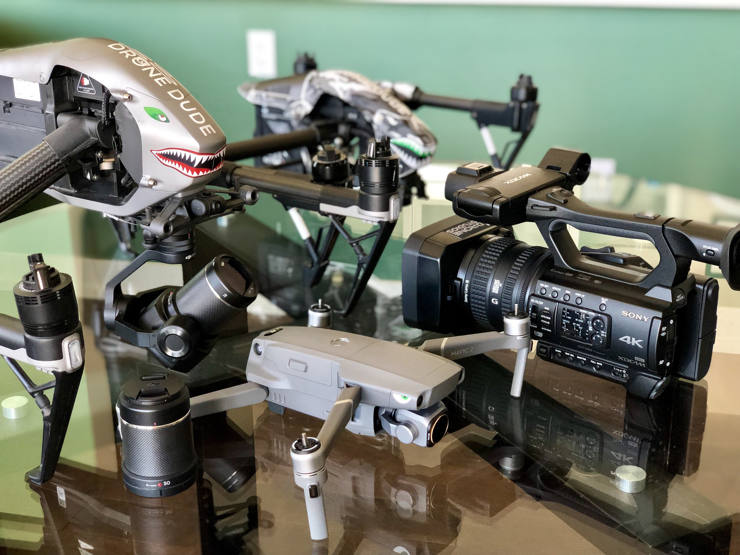 Our In-house camera and drone equipment, however rentals are always an option