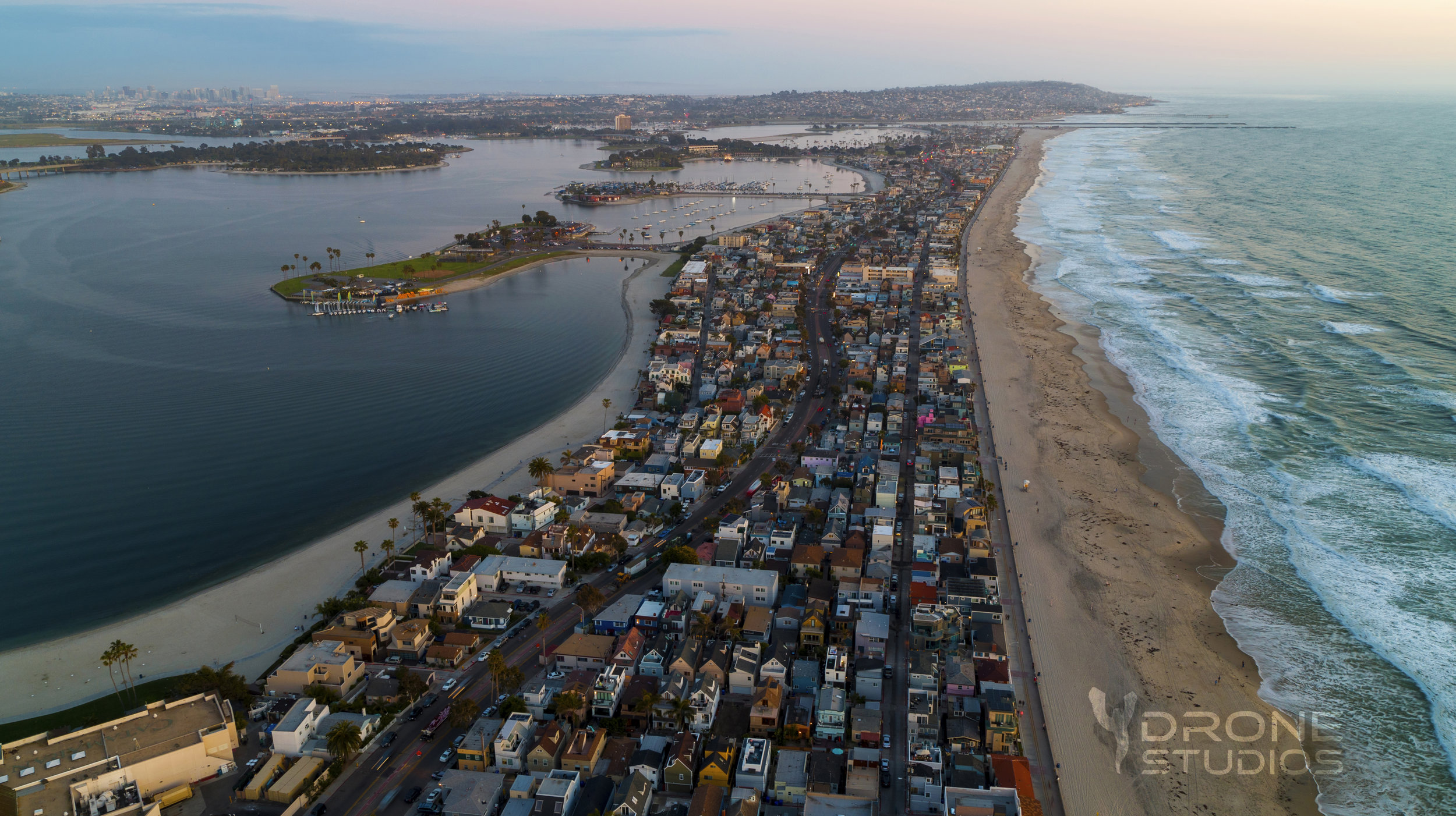 Aerial photo of Mission Beach