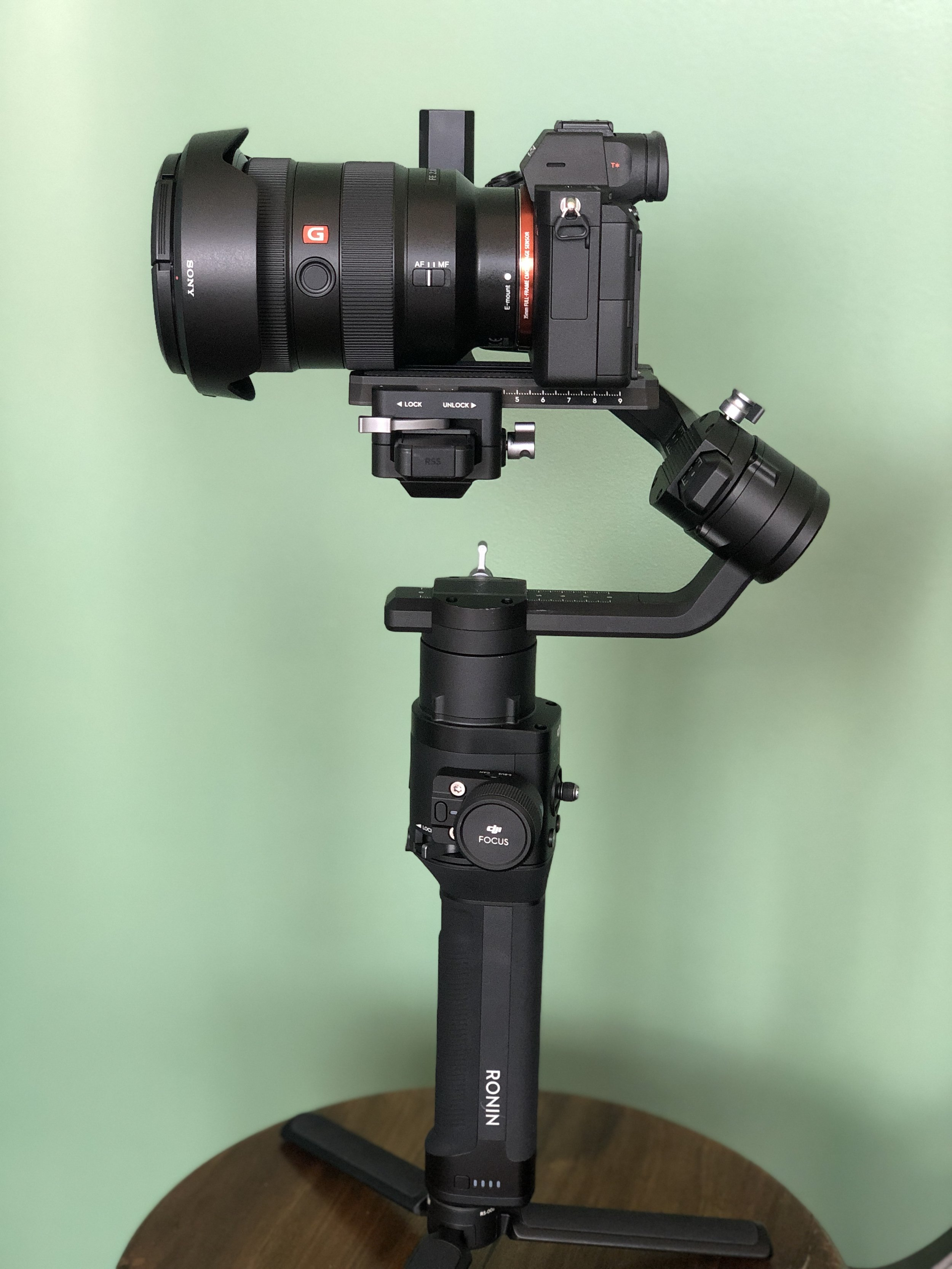 Sony A7R III camera stabilized by the Ronin-S gimbal