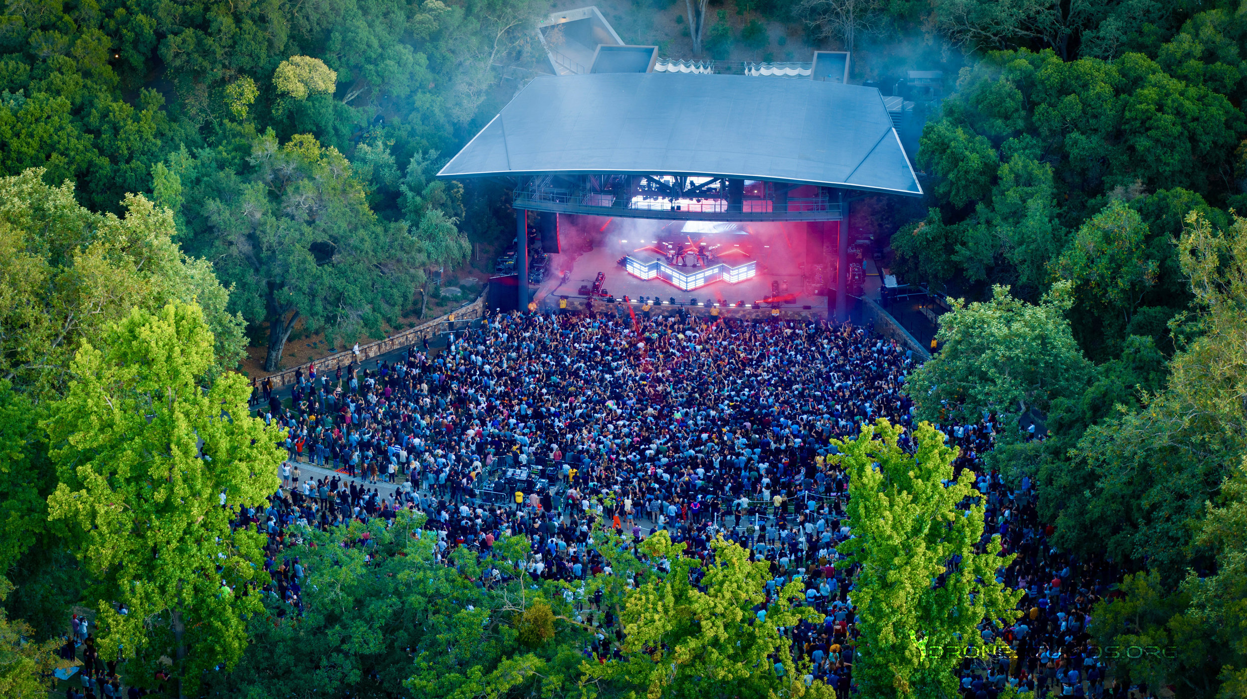 Odezsa at Stanford - Drone operator for the Grand Opening of Frost Amphitheater with Odesza, Gilligan Moss and Robotaki