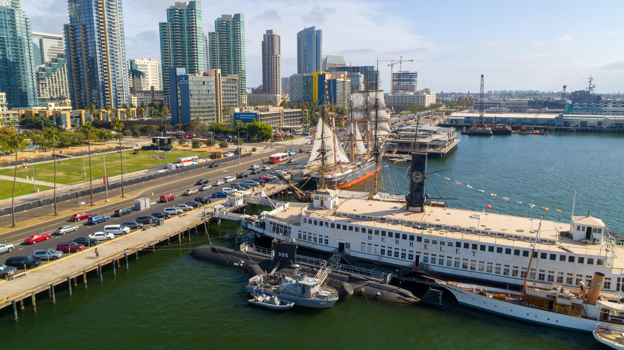 Aerial filming at the MAritime Museum of San Diego for the Smithsonian Channel