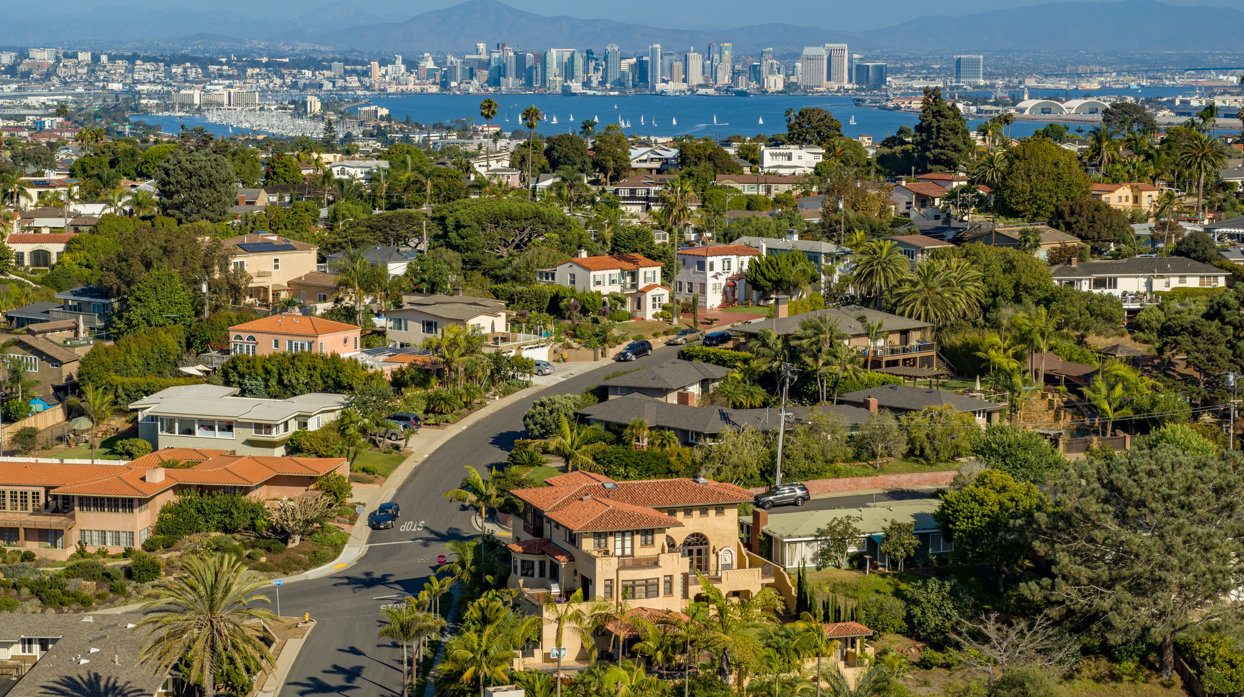 Drone photography of luxury real estate listing in Sunset Cliffs