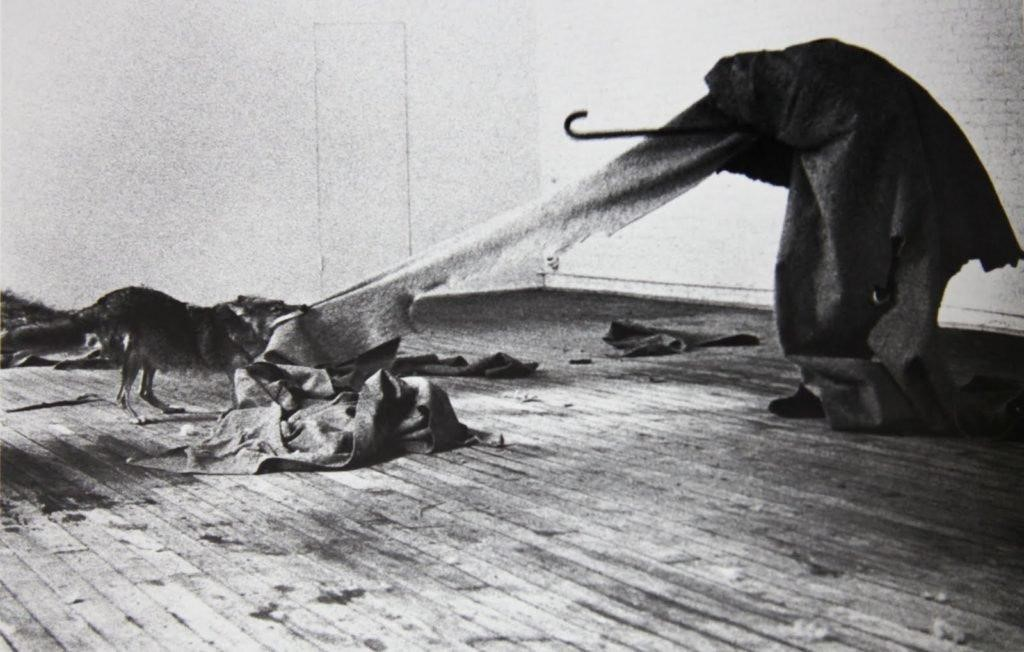 Joseph Beuys,  I Like America and America Likes Me  (1974). Image courtesy of wikiart .