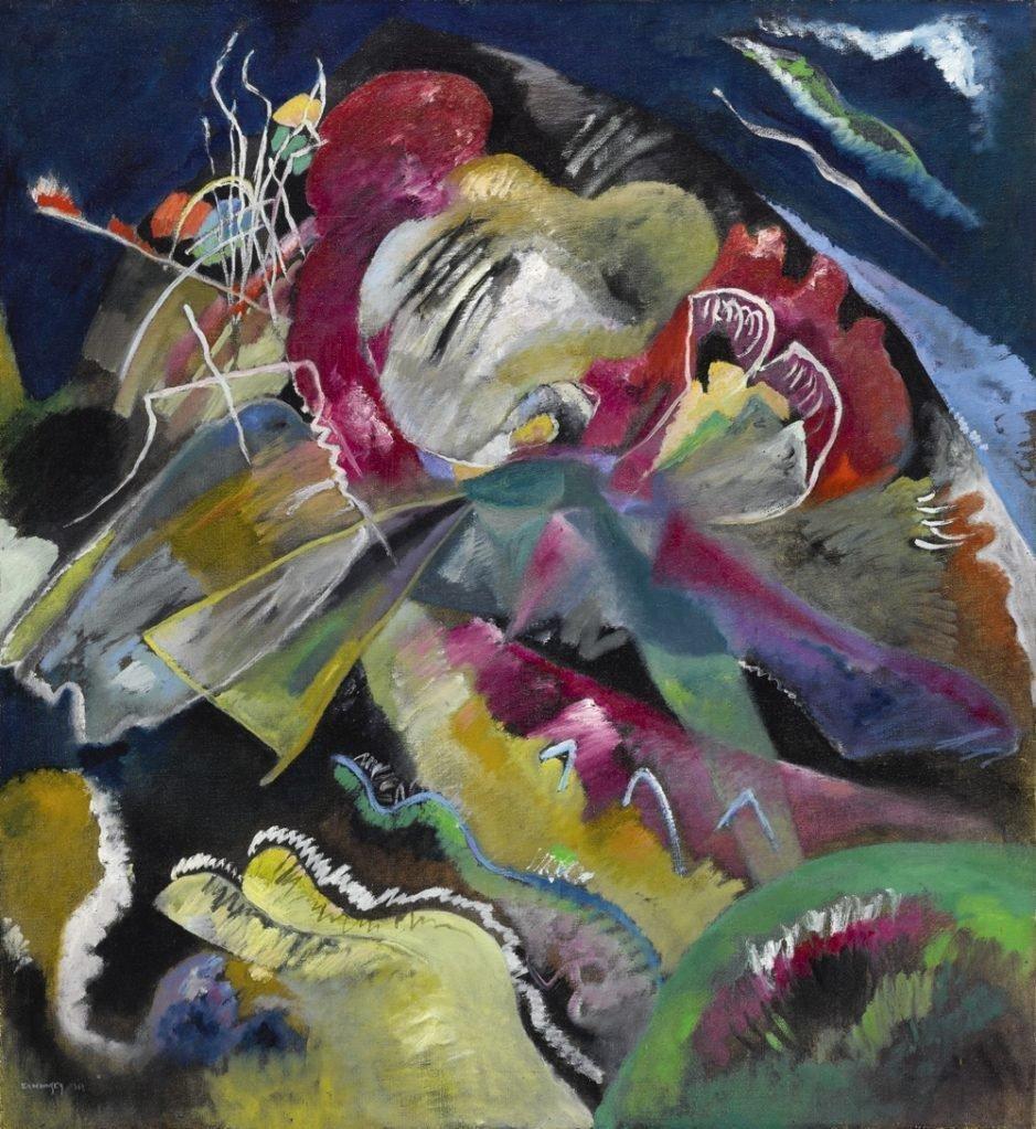 Wassily Kandinsky,  Bild mit Weissen Linien  (1913). Courtesy Sotheby's.