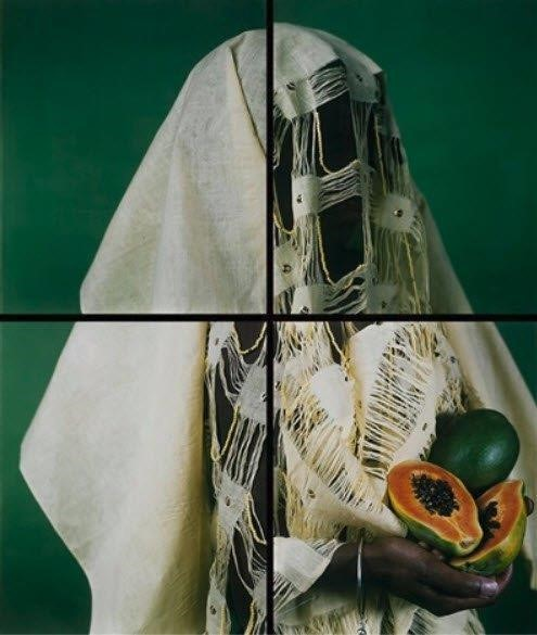 María Magdalena Campos-Pons,  Bin Bin Lady, The Papaya  (c. 2005). Courtesy of Gallery Wendi Norris.
