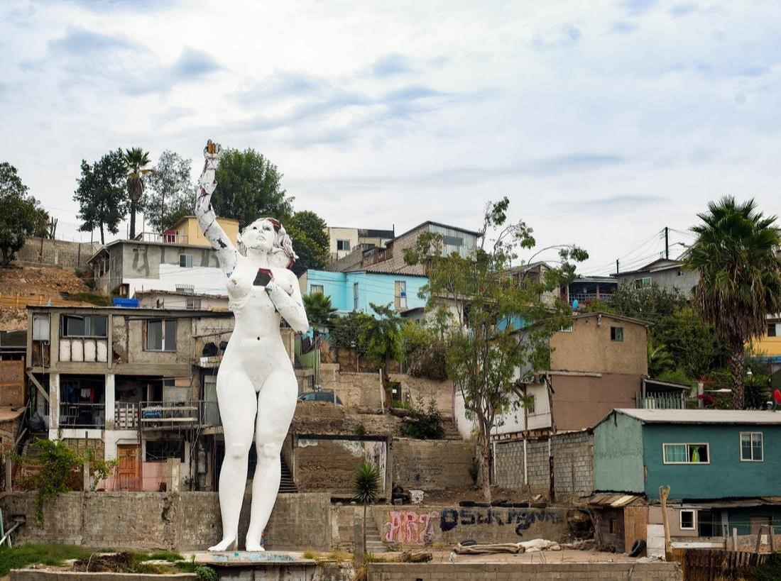 Armando Muñoz Garcia,  Tijuana III Millenio , 2016. Photo by Jim Platel. Courtesy of the Craft and Folk Art Museum.