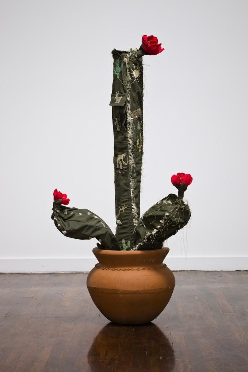 Margarita Cabrera in collaboration with Maria Lopez,  Space in Between - Saguaro (Maria   Lopez) , 2010. Courtesy of the artist and Talley Dunn Gallery, Dallas.