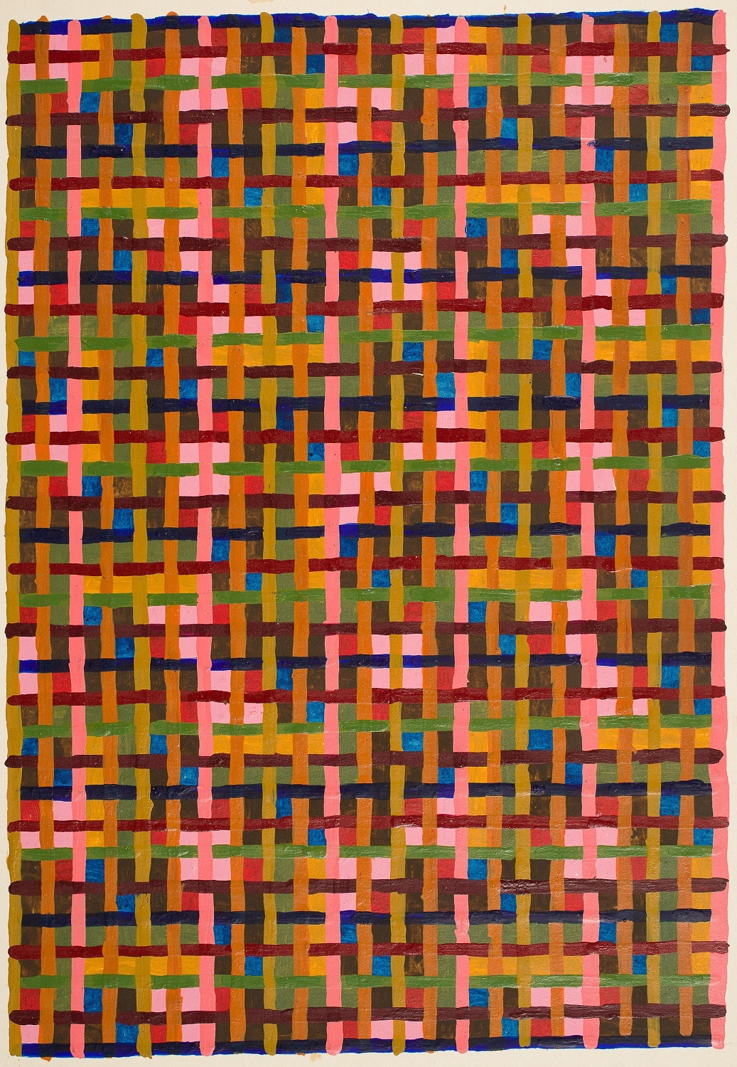 Peter Young,  Study for a Painting , 1979. Acrylic on paper, 12 x 8 1/4 inches (30.5 x 21 cm)