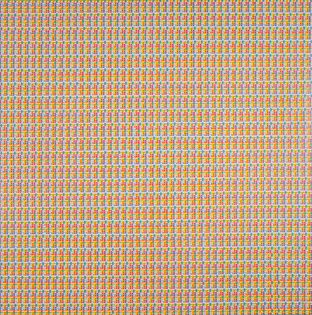 Peter Young,  #6 - 1977,  1977, Acrylic on canvas, 68 x 68 inches (172.7 x 172.7 cm)
