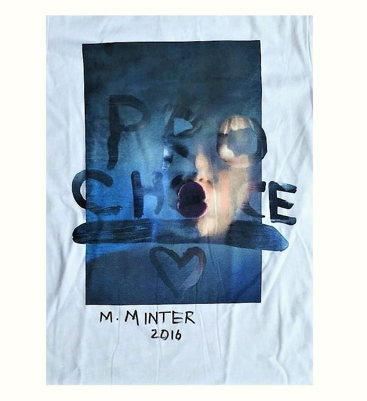 """Marilyn Minter      """"Pro Choice Miley"""", Signed, Limited Edition, Marc Jacobs T-Shirt , 2016     VINCE fine arts/ephemera"""